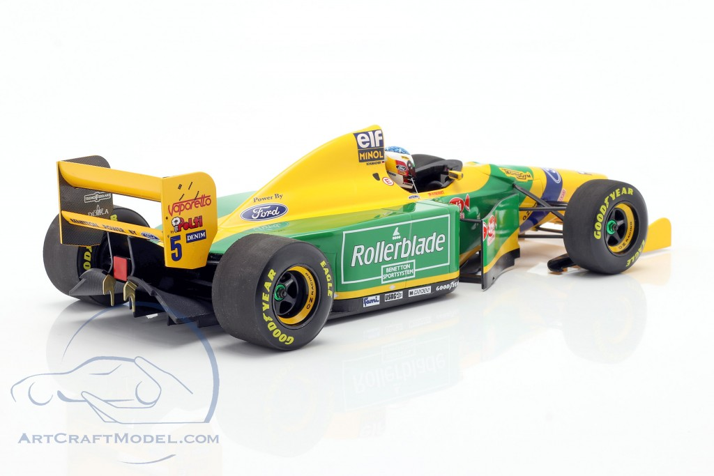 Michael schumacher benetton b193b #5 2nd canadá gp f1 1993 1:18 Minichamps