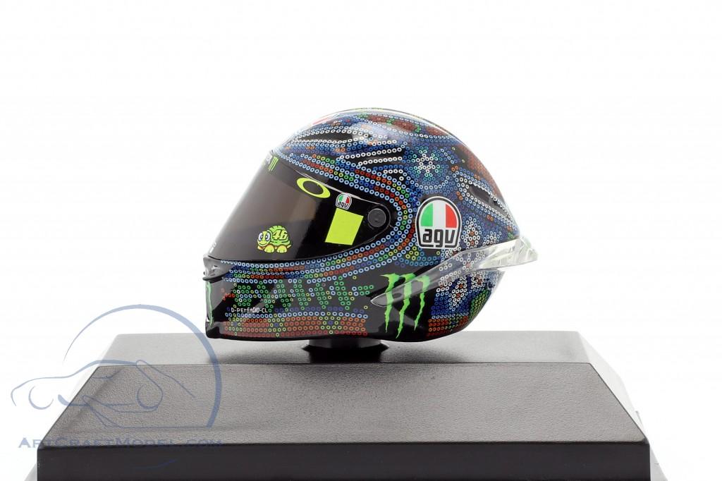 Minichamps 398160076 AGV Helm Valentino Rossi Test MotoGP Sepang 1:8 NEU /& OVP