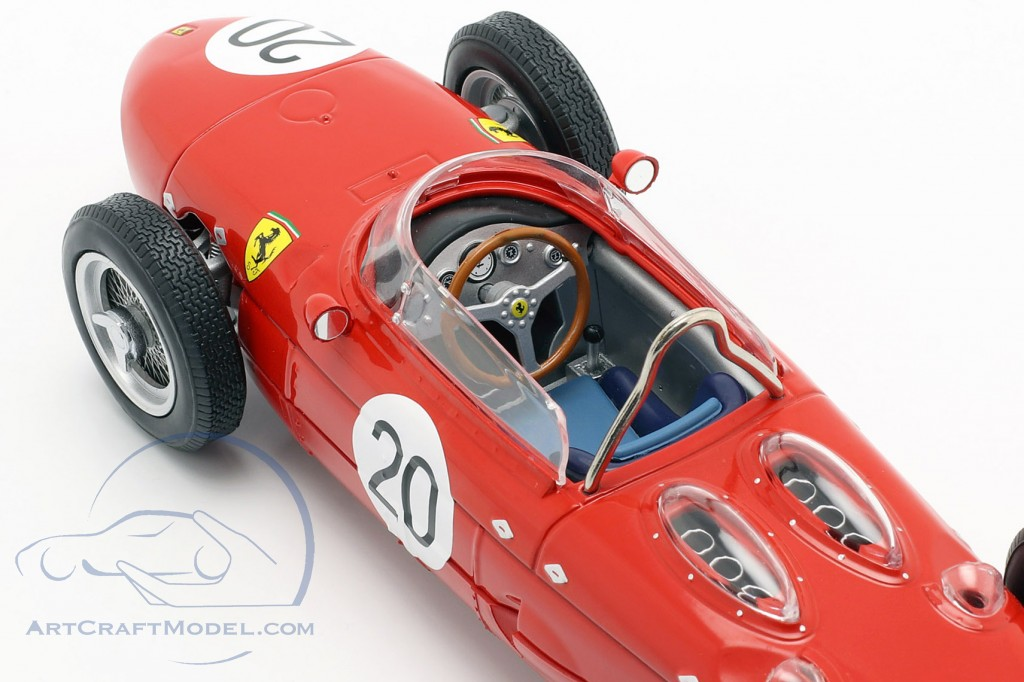 W. Graf Berghe v. Trips Ferrari 156 Sharknose #20 French GP F1 1961