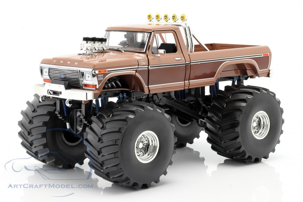 Ford F-350 Monster Truck BFT 66 inch tires 1978 brown