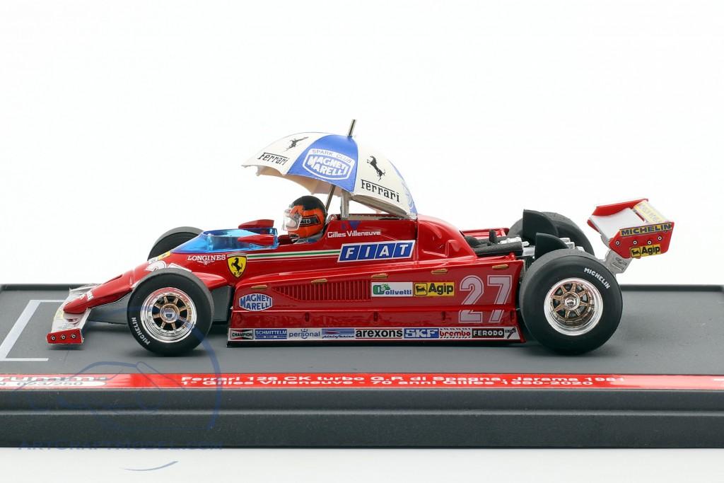 Gilles Villeneuve Ferrari 126CK #27 Winner Spanish GP formula 1 1981