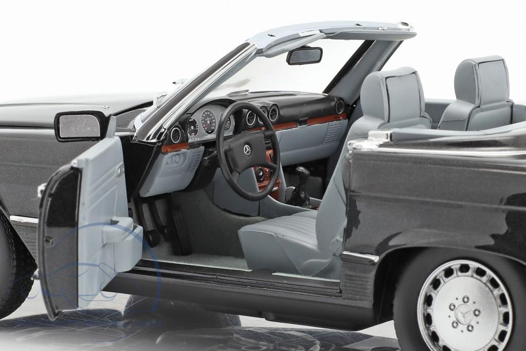 Mercedes-Benz 300 Sl Cabriolet 1986 Blue//Black Metallic Softtop 1:18 Norev