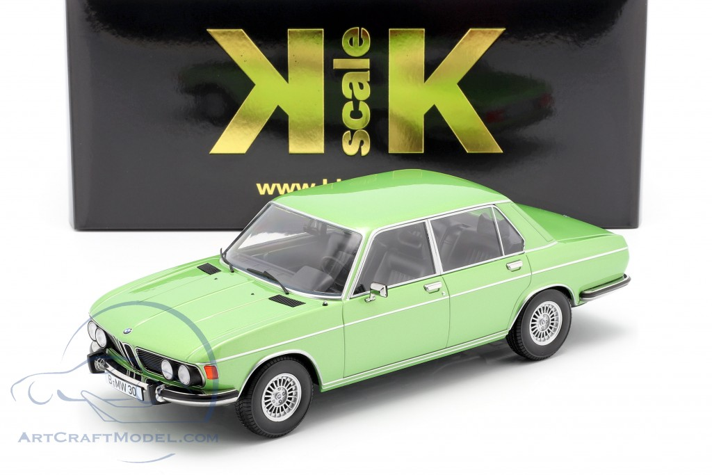 BMW 3.0S E3 2 Series year 1971 light green metallic