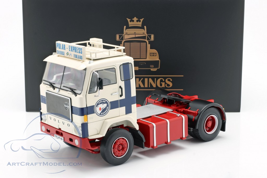 Volvo F88 Truck Polar Express 1965 white / blue / red