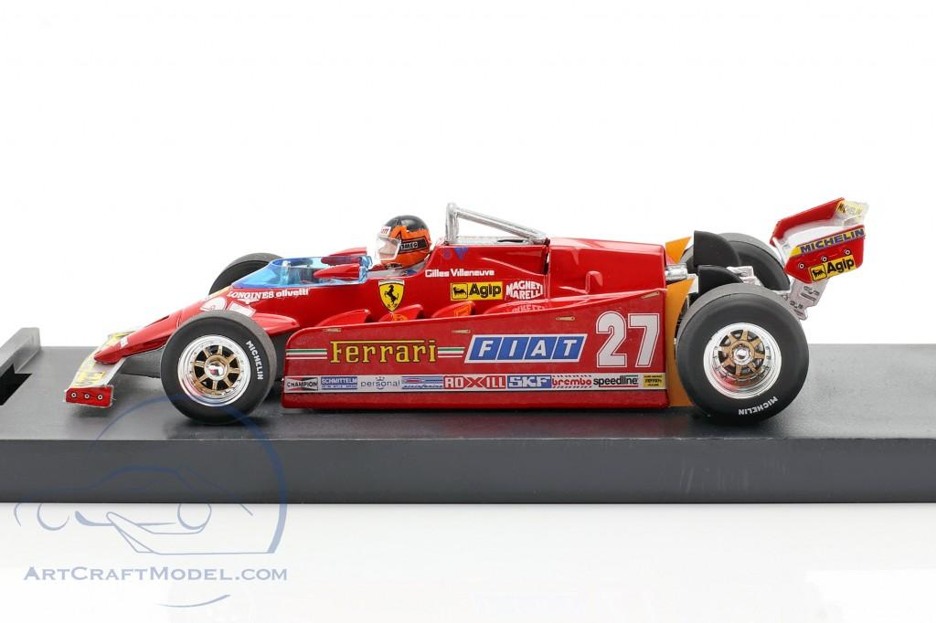 G. Villeneuve Ferrari 126CK turbo #27 GP USA formula one 1981
