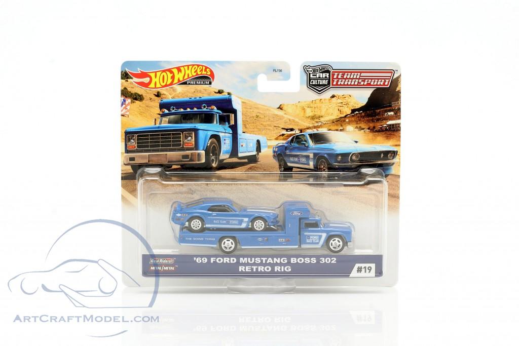 Set Team Transport: Ford Mustang Boss 302 1969 & Retro Rig