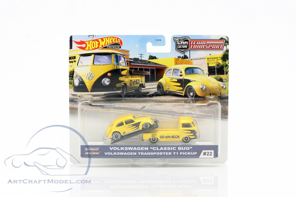 Set Team Transport: Volkswagen VW Classic Bug & Transporter T1 Pick-Up