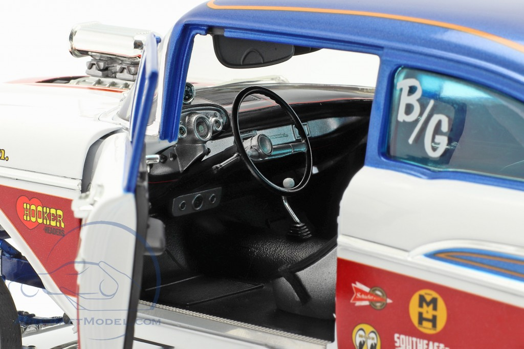 Chevrolet Bel Air Gasser American Express 1957 white / red / blue