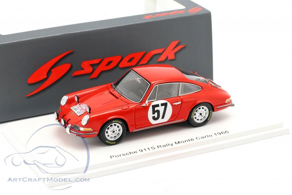 Porsche 911 S #57 Rallye Monte Carlo 1966 Buchet, Schlesser