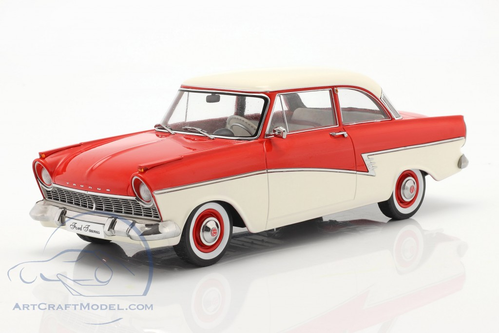 Ford Taunus 17M P2 year 1957 red / white