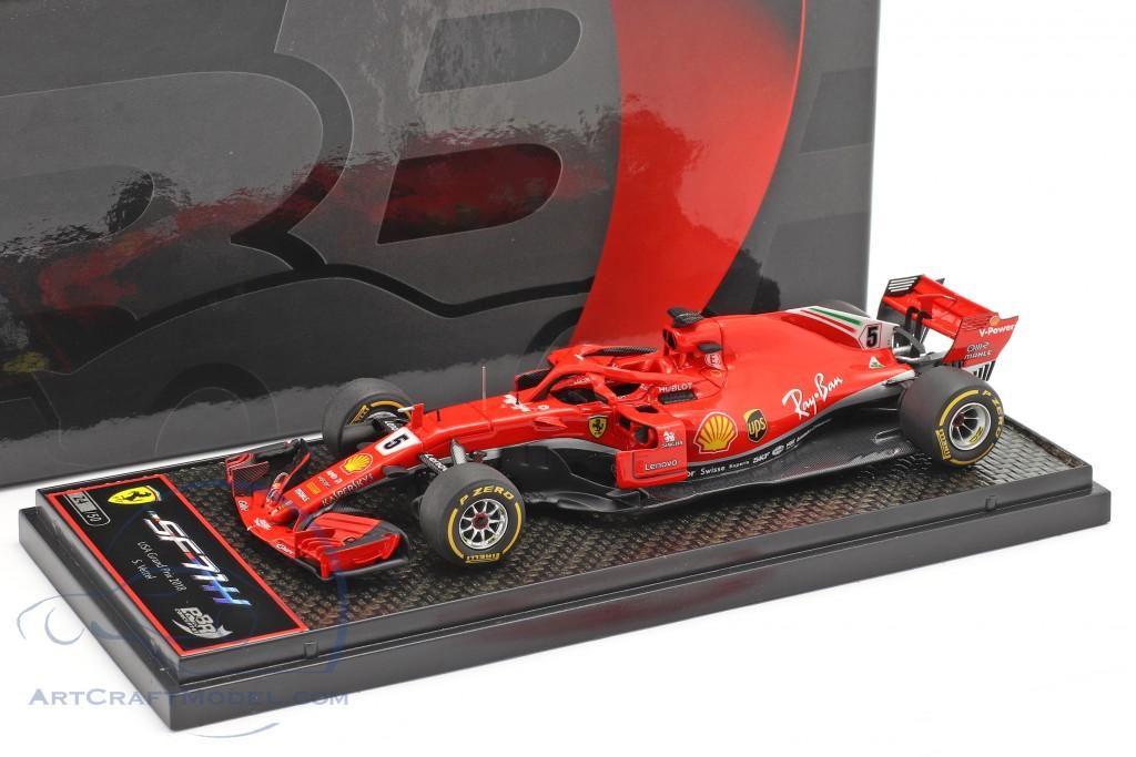 Sebastian Vettel Ferrari SF71H #5 United States GP formula 1 2018  BBR