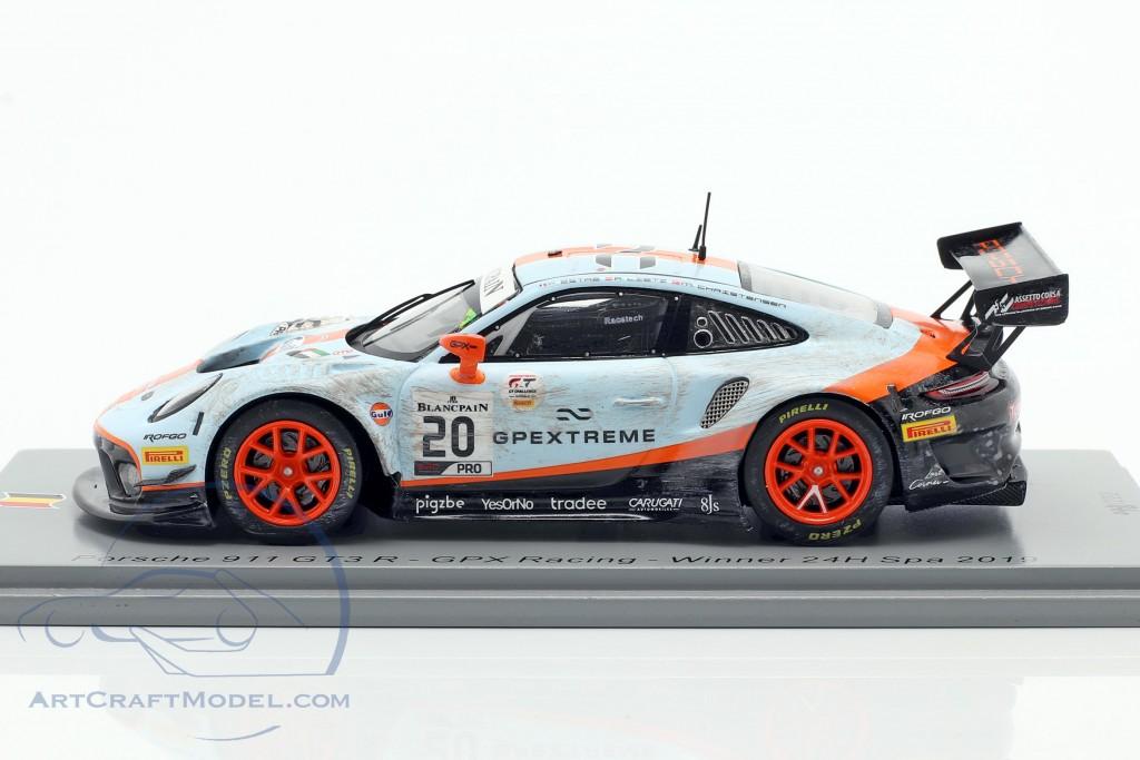 Porsche 911 GT3 R #20 winner 24h Spa 2019 Dirty Race version