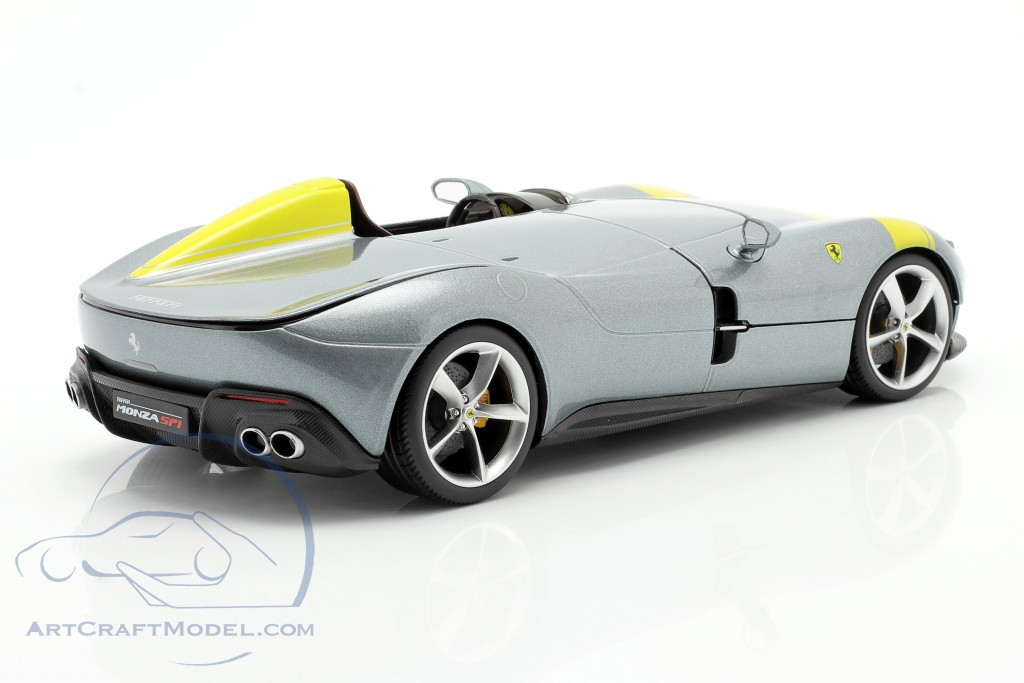 Ferrari Monza SP1 year 2019 grey metallic / yellow
