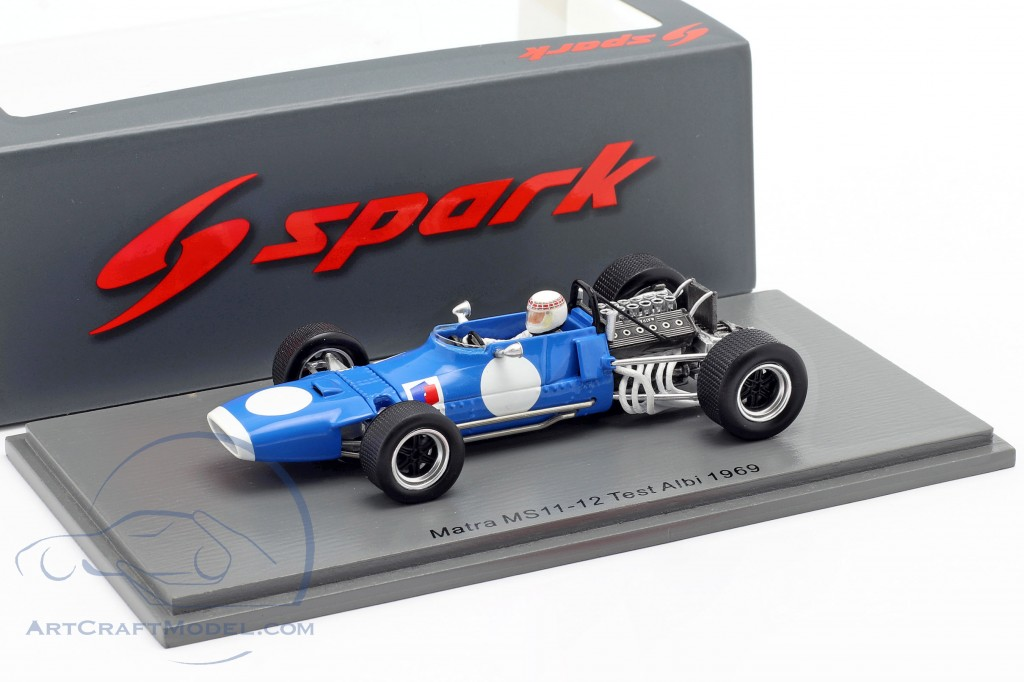 Jackie Stewart Matra MS11-12  Test Albi formula 1 World Champion 1969  Spark