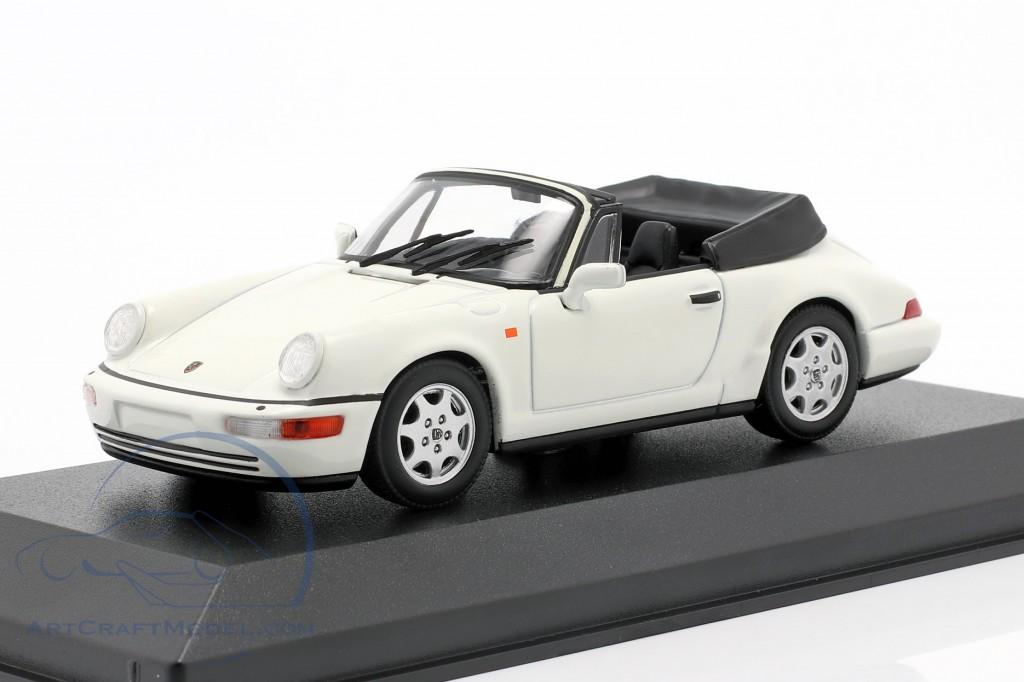 Porsche 911 Carrera 4 Cabriolet Year 1990 White 940067330 Ean 4012138169074