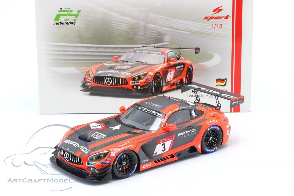 Mercedes-Benz AMG GT3 #3 2nd 24h Nürburgring 2019 Team Black Falcon