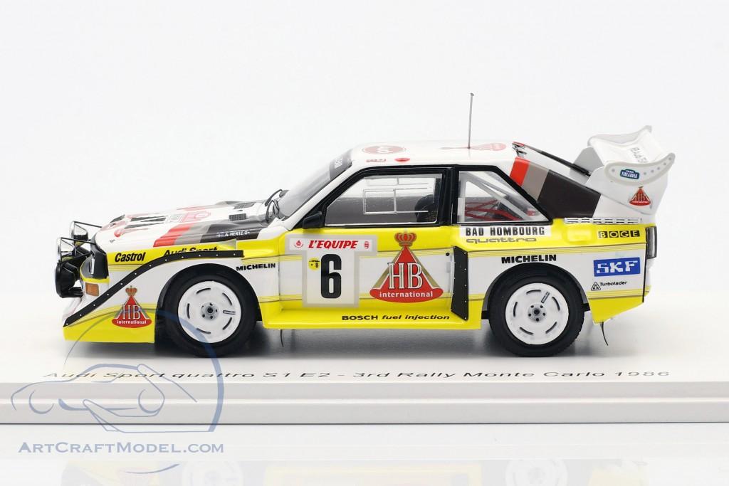 Audi Quattro Sport E2 #6 3rd Rallye Monte Carlo 1986 Mikkola, Hertz
