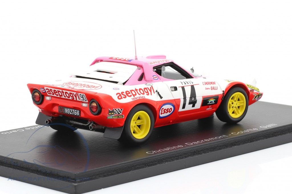 Lancia Stratos #14 winner Coupes des Dames Rallye Monte Carlo 1977