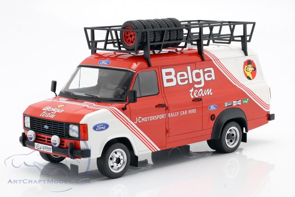 Ford Transit MK II 1979 Rallye Assistance Belga Team red / White