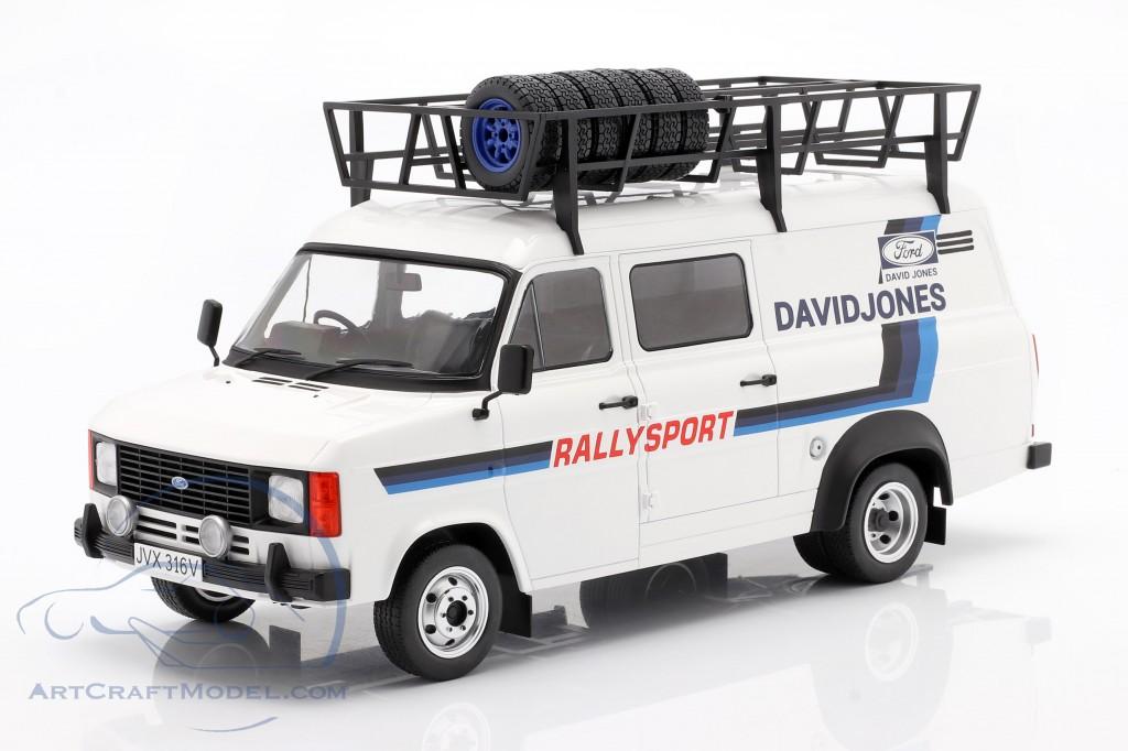 Ford Transit MK II 1979 Rallye Assistance David Jones White / blue
