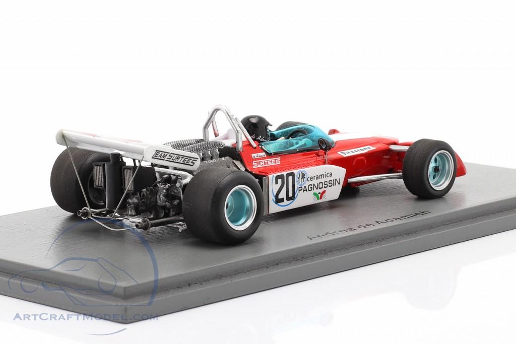 Andrea de Adamich Surtees TS9B #20 Argentinean GP formula 1 1972