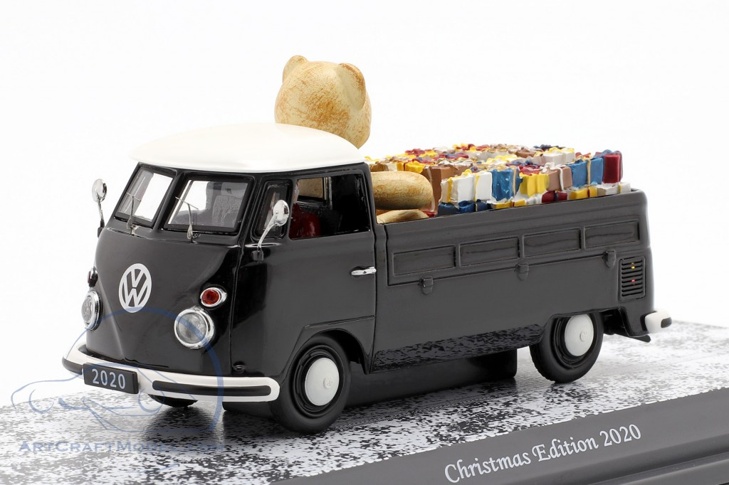 Volkswagen VW T1 Pickup truck Christmas Edition 2020 black / white