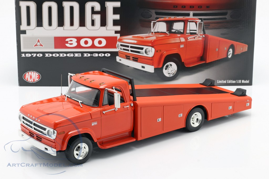 Dodge D-300 Ramp Truck year 1970 orange red