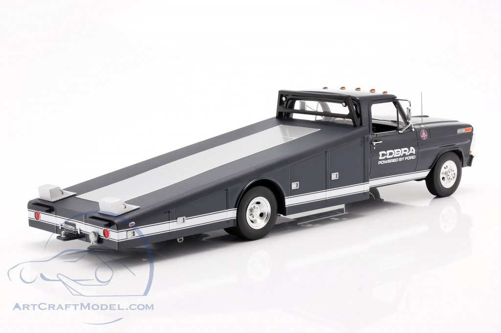 Ford F-350 Ramp Truck Shelby Cobra year 1970 blue / White