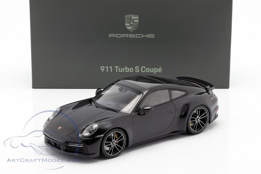 Porsche 911 (992) Turbo S year 2020 deep black metallic