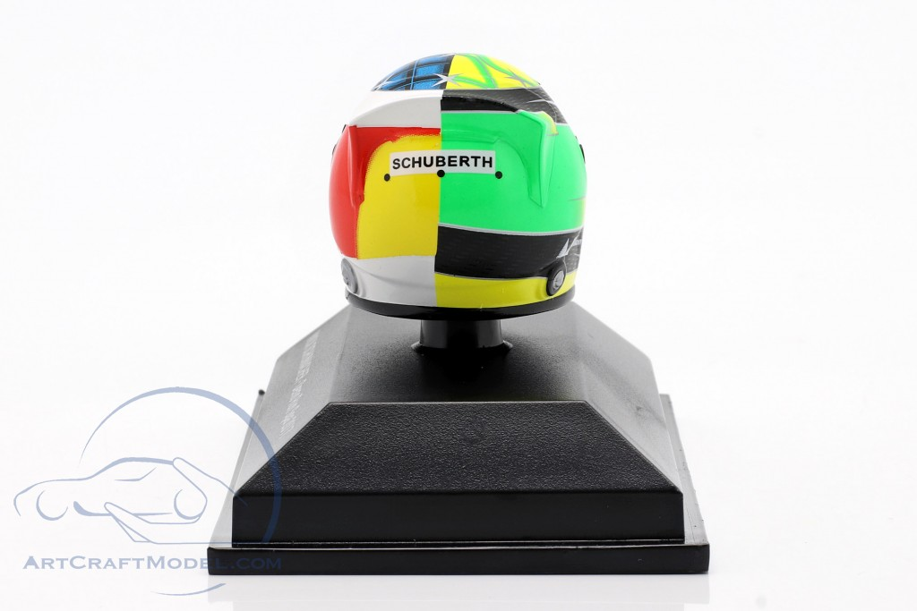 Mick Schumacher Benetton B194 #5 Demo Run GP Spa formula 1 2017 helmet