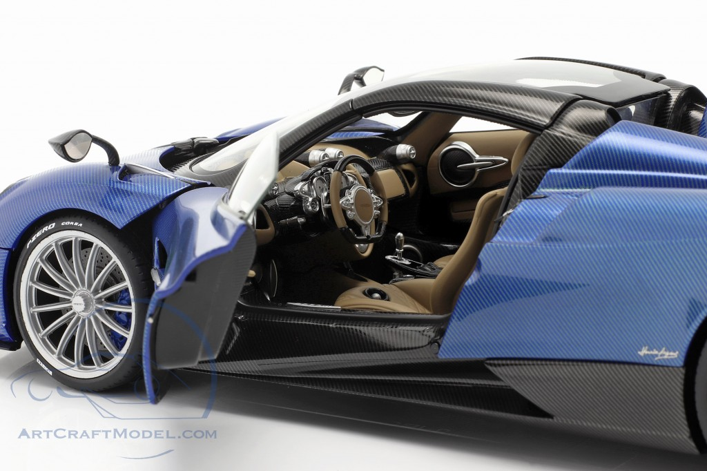 Pagani Huayra Roadster year 2017 blue carbon