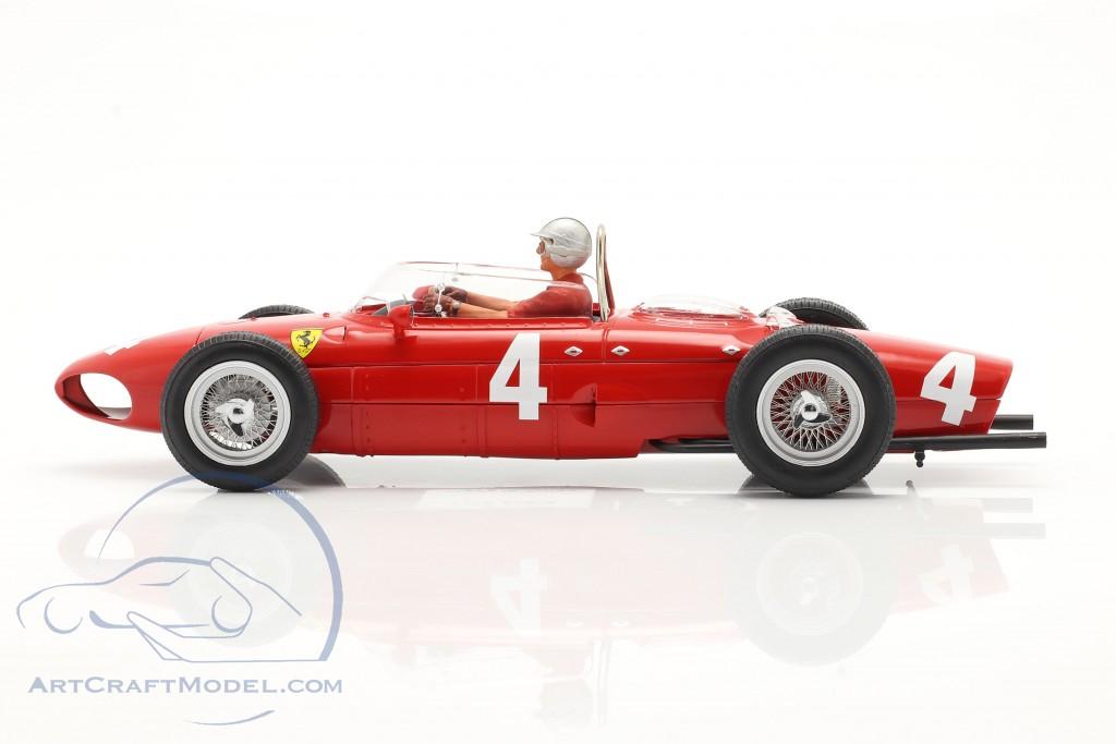 Set: Ferrari 156 Sharknose #4 Sieger British GP 1961 mit Fahrerfigur
