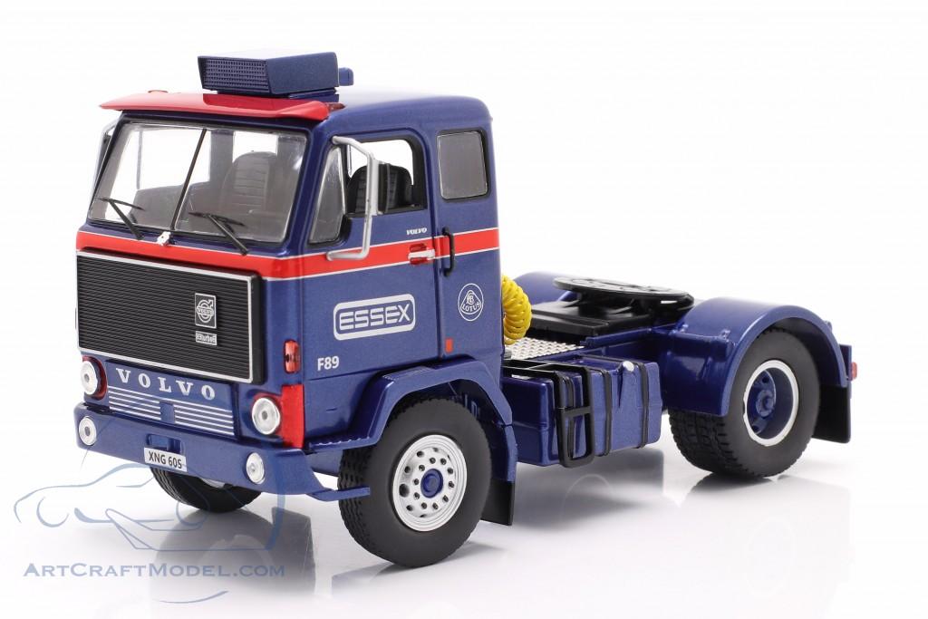 Volvo F89 Race Car Transporter Essex Lotus blue / silver / red