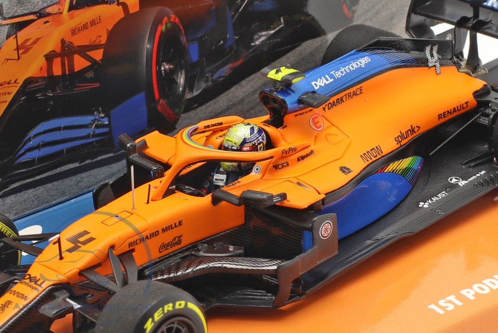 L. Norris McLaren MCL35 #4 1st Podium Austrian GP formula 1 2020