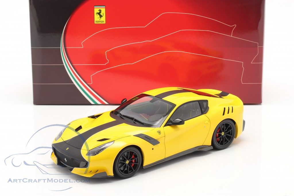 Ferrari F12 TDF year 2015 modena yellow / black  BBR