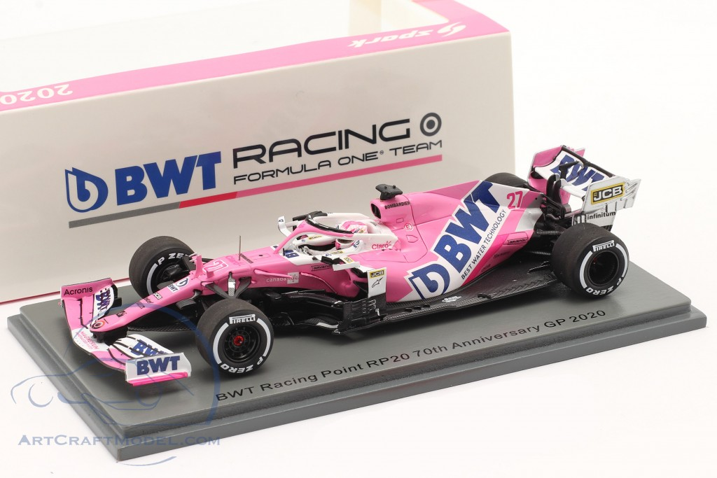 N. Hülkenberg Racing Point RP20 #27 70th Anniversary GP formula 1 2020