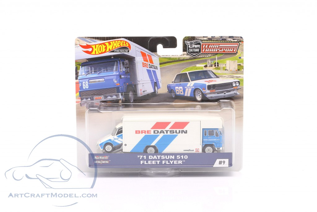 Set Team Transport: Datsun 510 1971 & Fleet Flyer