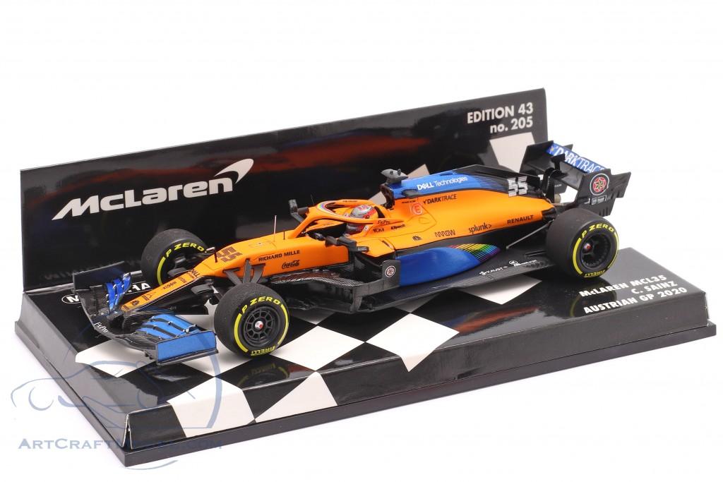 C. Sainz jr. McLaren MCL35 #55 5th Austrian GP formula 1 2020