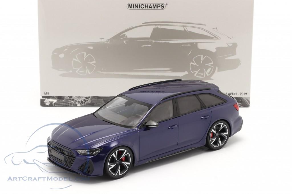 Audi RS 6 Avant (C8) year 2019 blue metallic