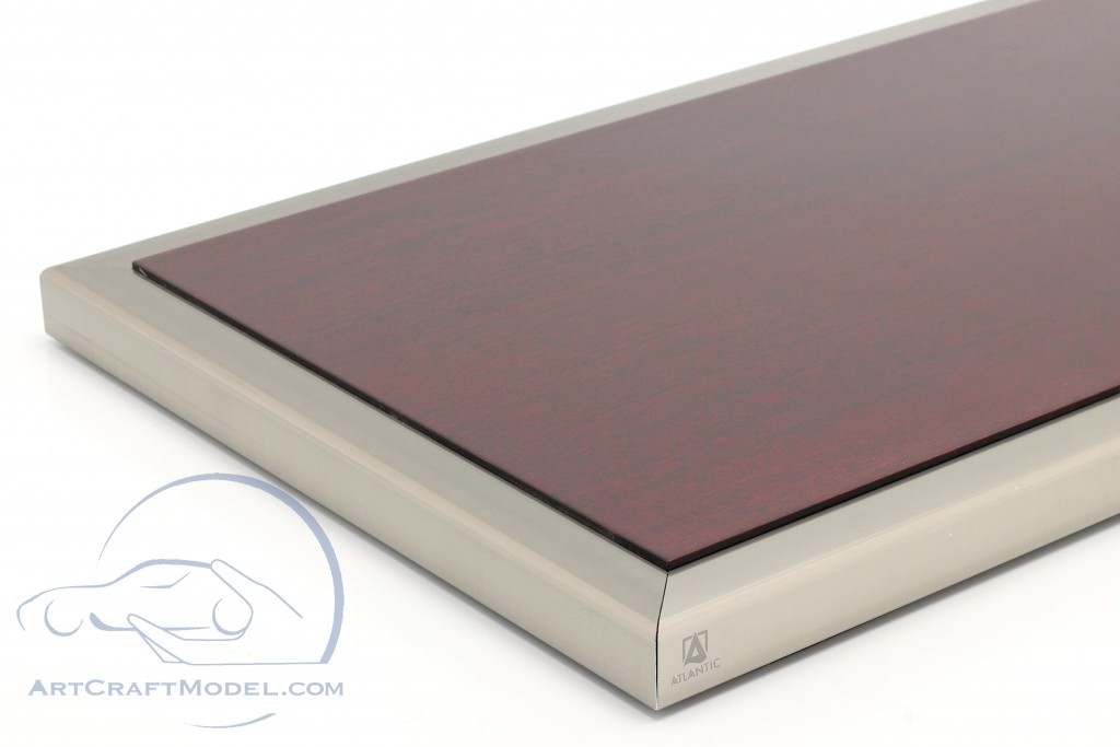 High quality acrylic showcase Goodwood with wood / metal base mahogany / silver  Atlantic