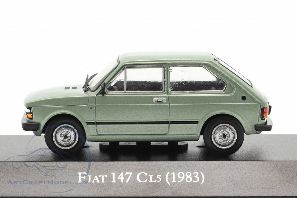 Fiat 147 CL5 year 1983 light green metallic