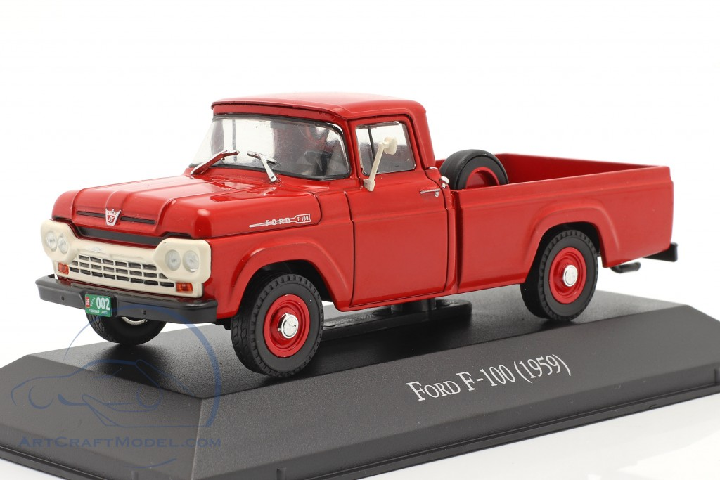 Ford F-100 Pick-Up year 1959 red