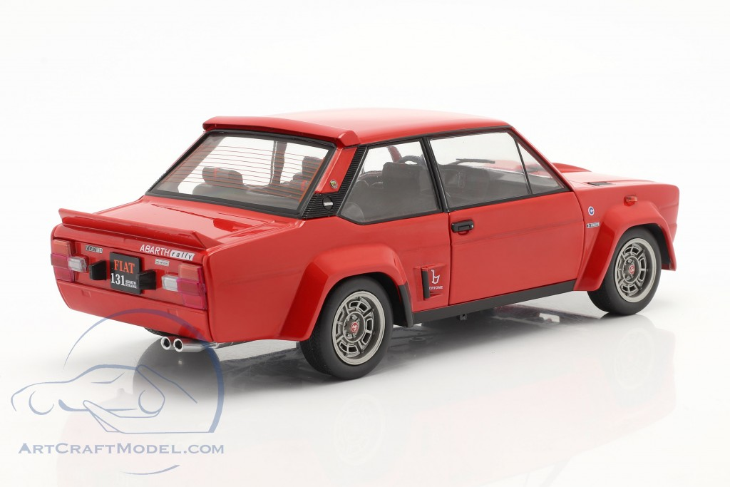 Fiat 131 Abarth Construction year 1980 red