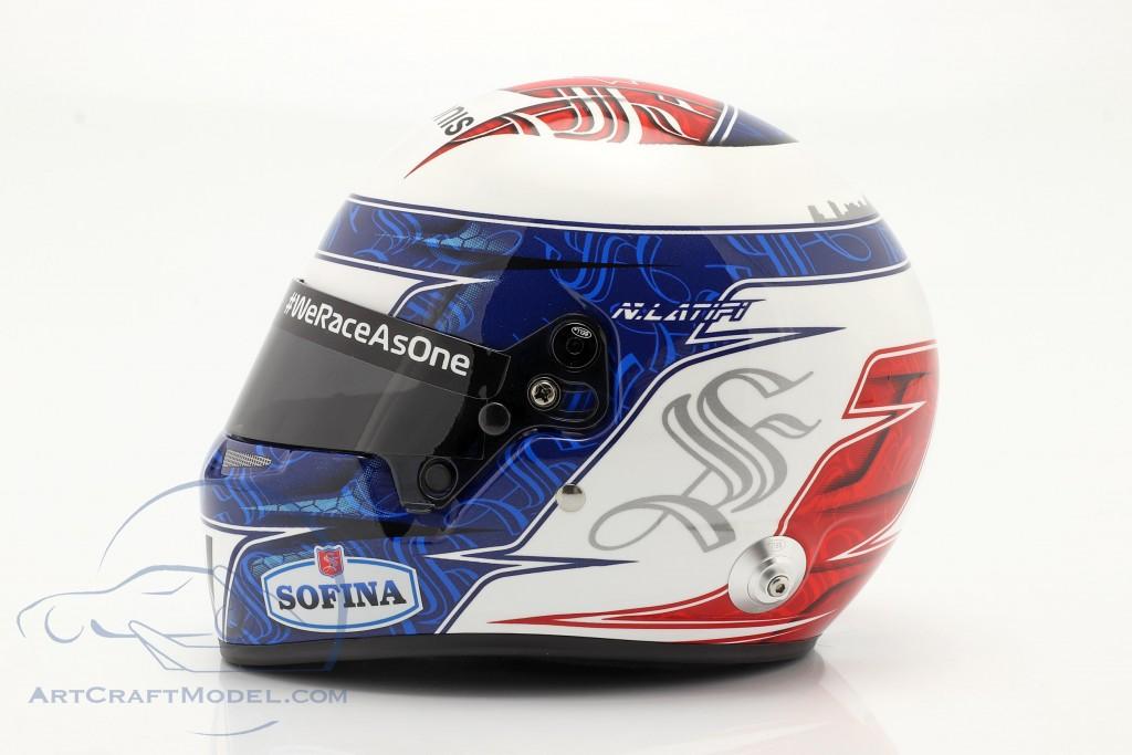 Nicholas Latifi #6 Williams Racing formula 1 2021 helmet