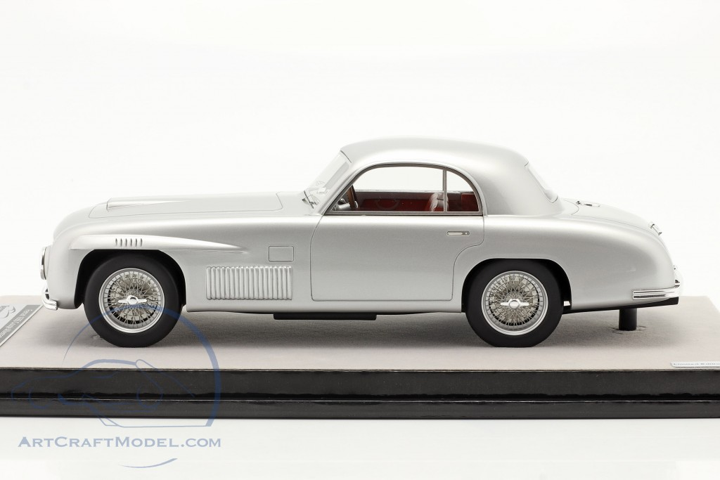 Ferrari 166S Coupe Allemano Street version 1948 silver metallic