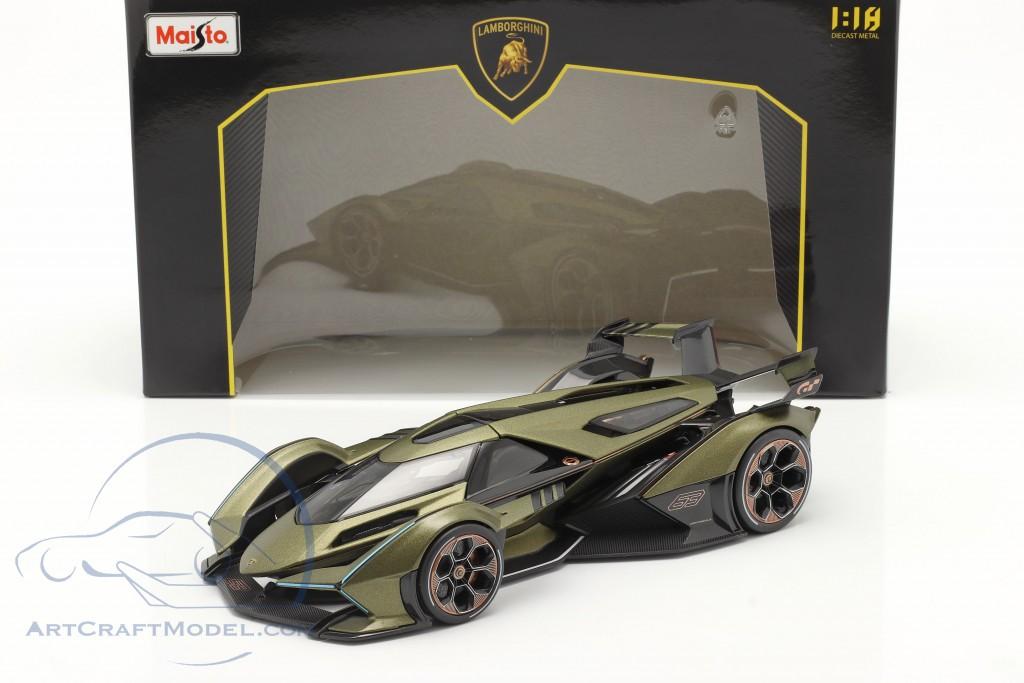 Lamborghini V12 Vision GT olive green / black