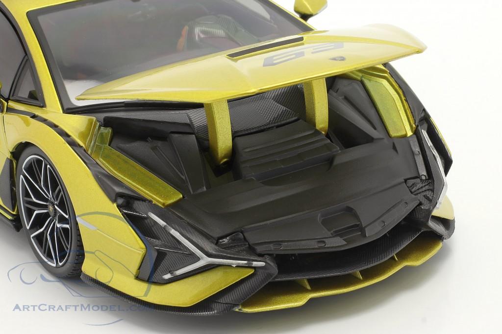 Lamborghini Sian FKP 37 #63 yellow / black