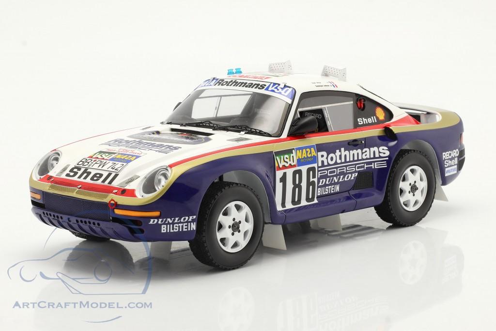 Porsche 959 #186 Winner Rallye Paris - Dakar 1986 with showcase