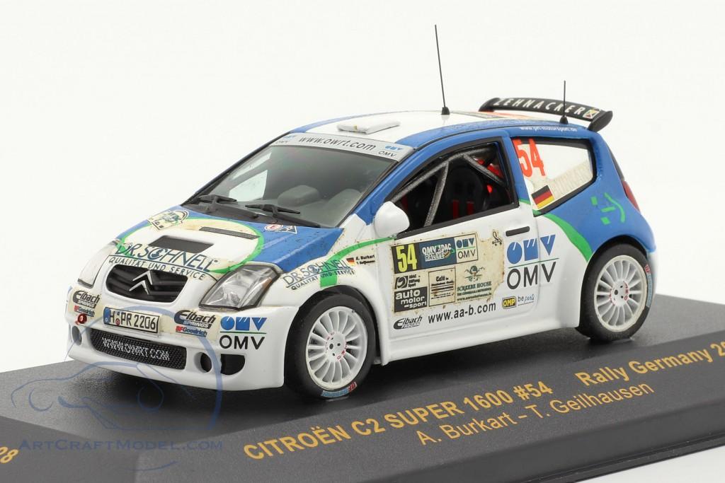 Citroen C2 Super 1600 #54 Rally Germany 2006