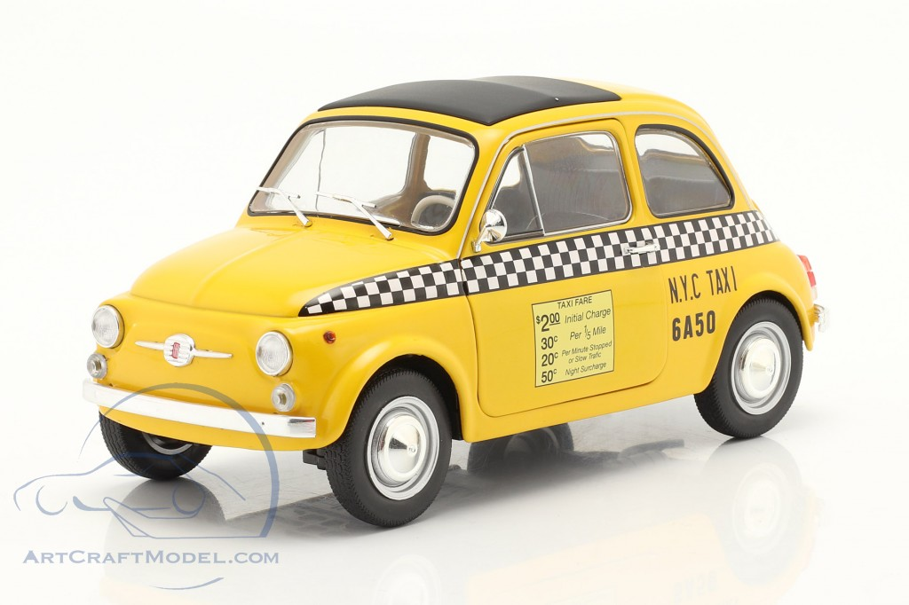 Fiat 500 L Taxi New York City 1965 yellow